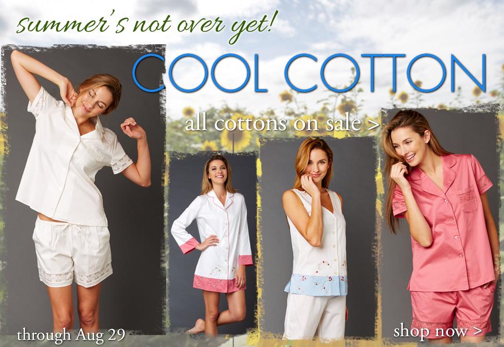 Stay cool in luxury fabrics!