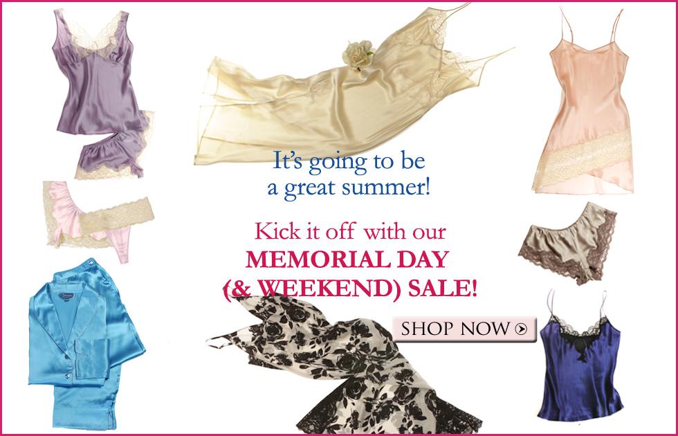 Luxury sleepwear, lingerie, and loungewear on sale!
