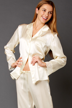 Luxury silk sleepwear and lingerie for mom!