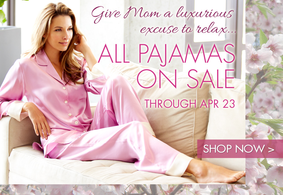 Luxury pajamas for mom now on sale!