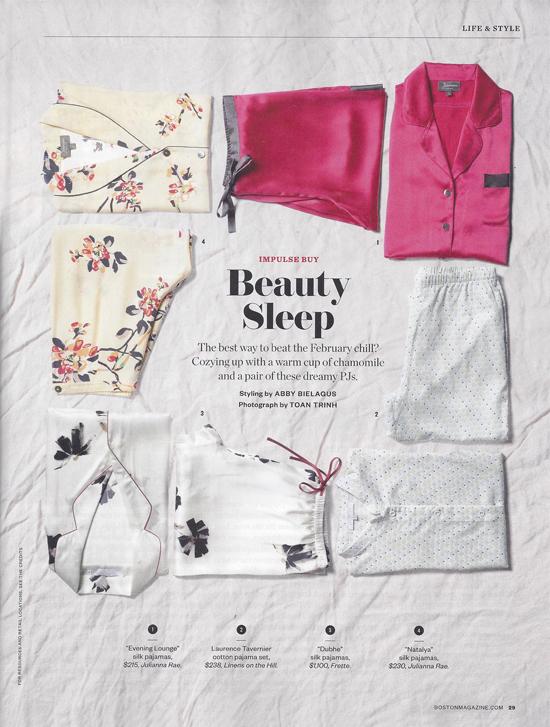 Julianna Rae's Natalya and Evening Lounge Silk Pajamas
