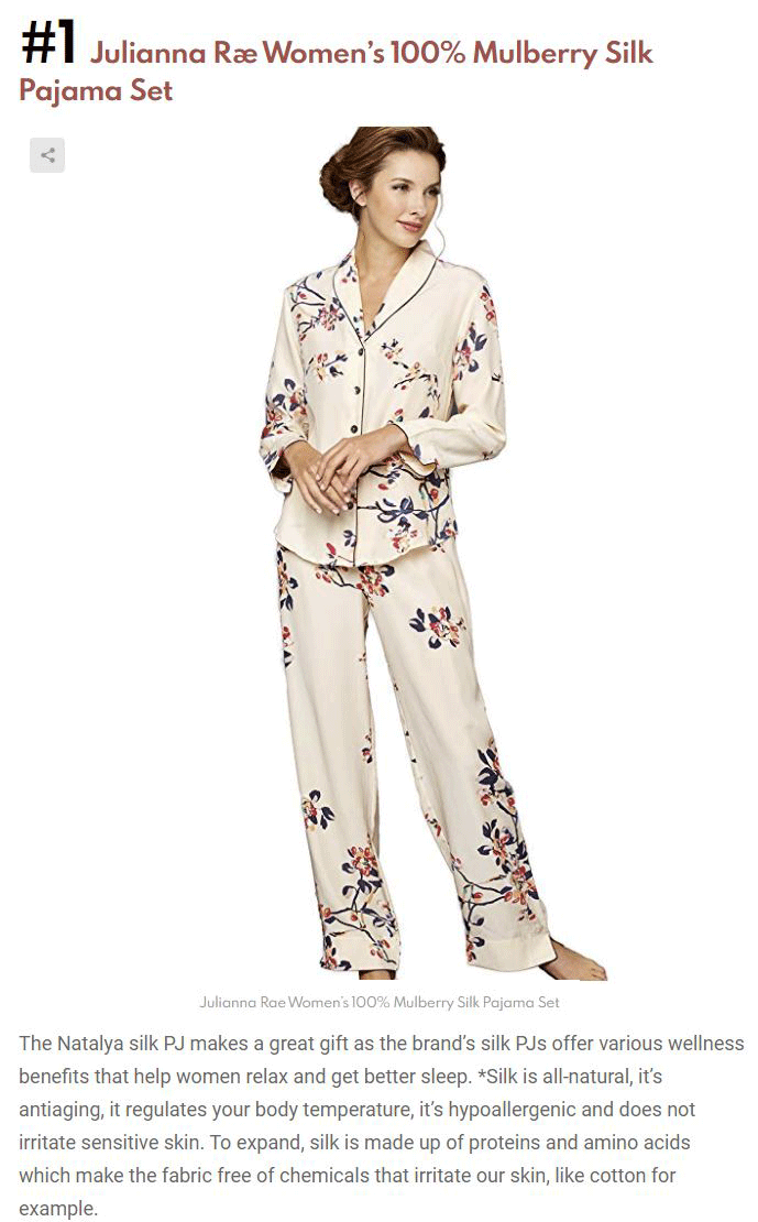 Julianna Rae's Natalya Silk Pajamas