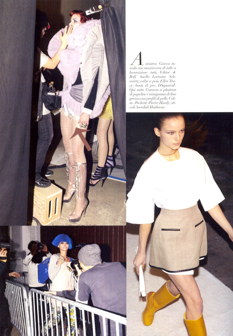 Julianna Rae Silken Jewel Tap Pant in Amethyst in Vogue Magazine