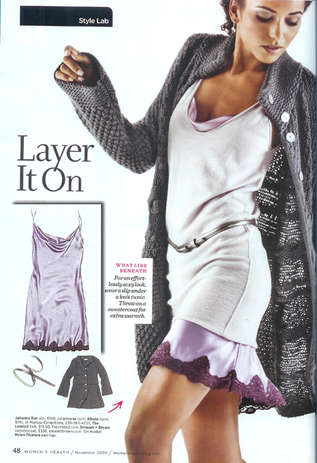 Our Silken Jewel Chemise featured in Women's Health Magazine