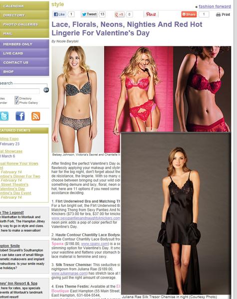 Julianna Rae Silk Tresor Chemise in Hamptons.com