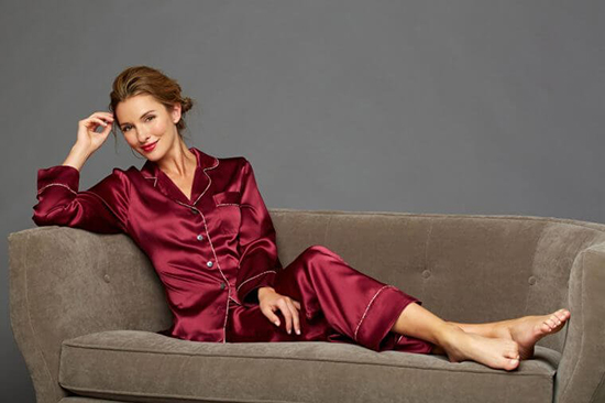 Julianna Rae's Paradise Found Silk Pajama in Sorbet