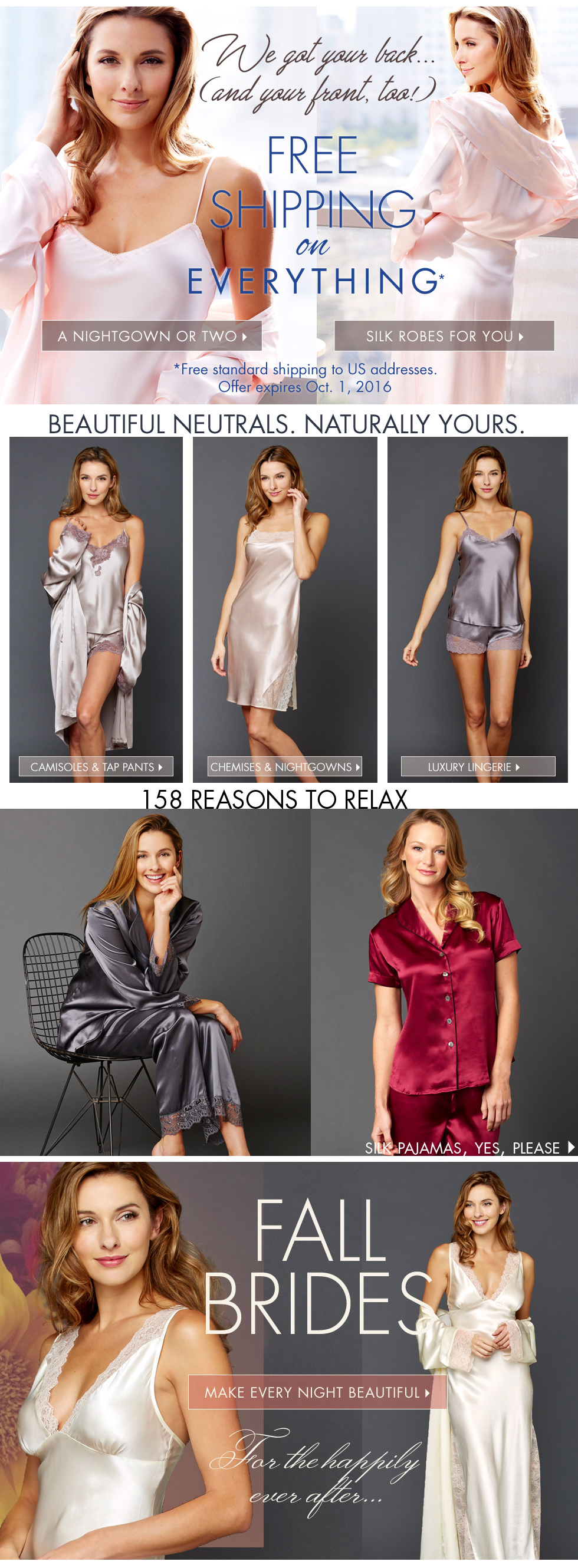 luxury sleepwear and lingerie - ships for free