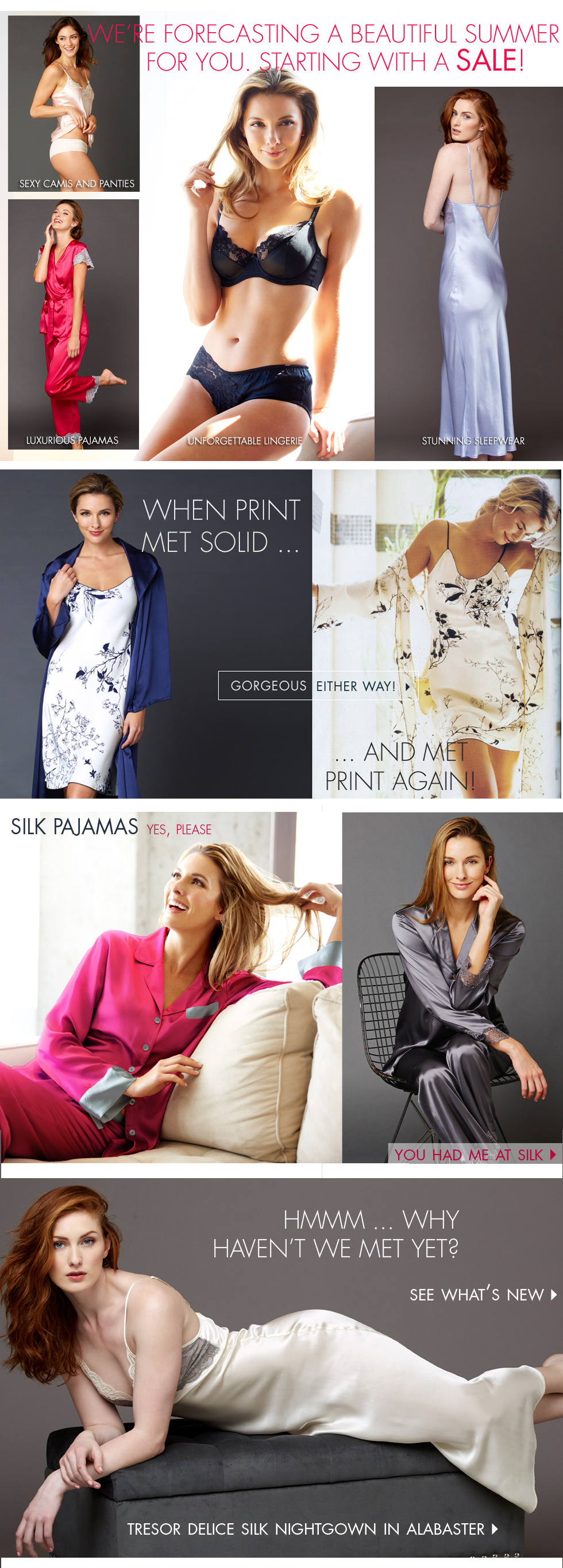 summers best lingerie and sleepwear - on sale to kick off summer!