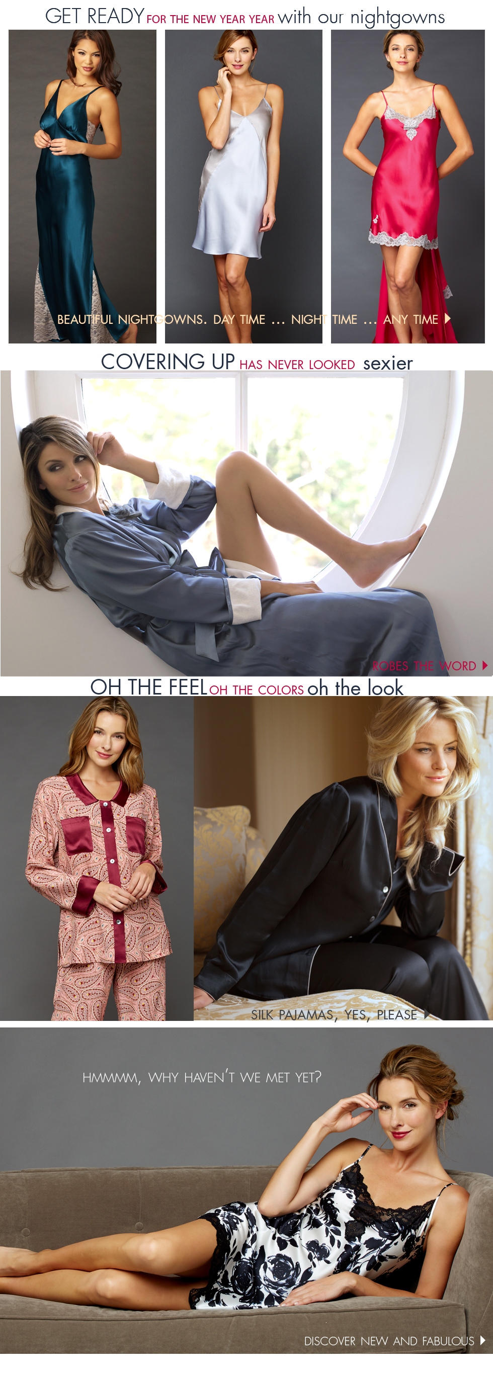 get ready for the new year with luxury sleepwear!