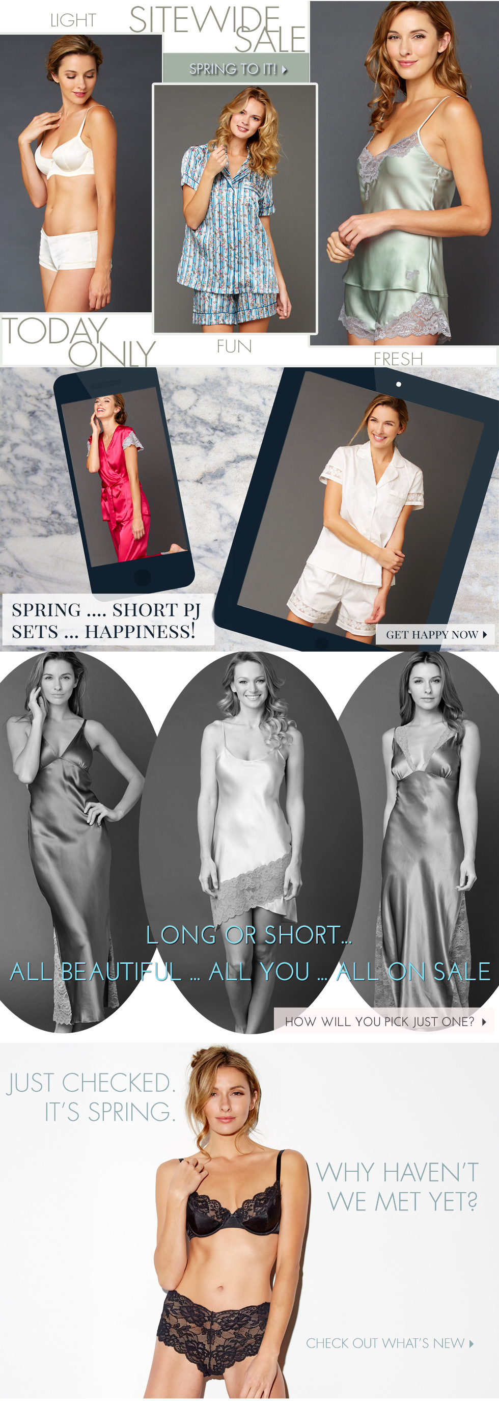Welcome Spring with lingerie must haves - now on sale!
